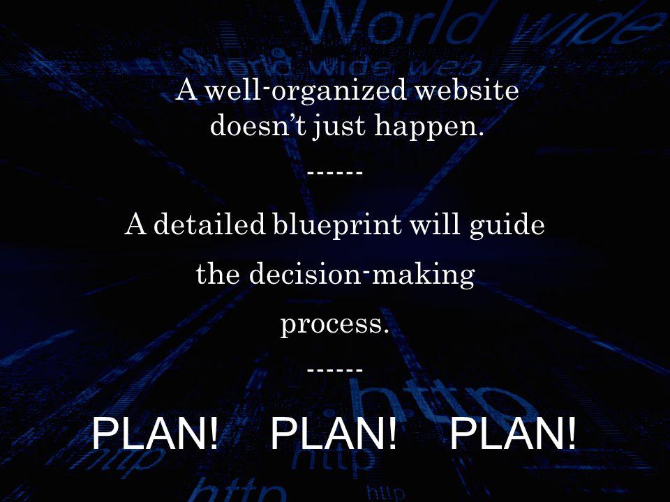 1.D EFINE THE P URPOSE Define the purpose of the website.