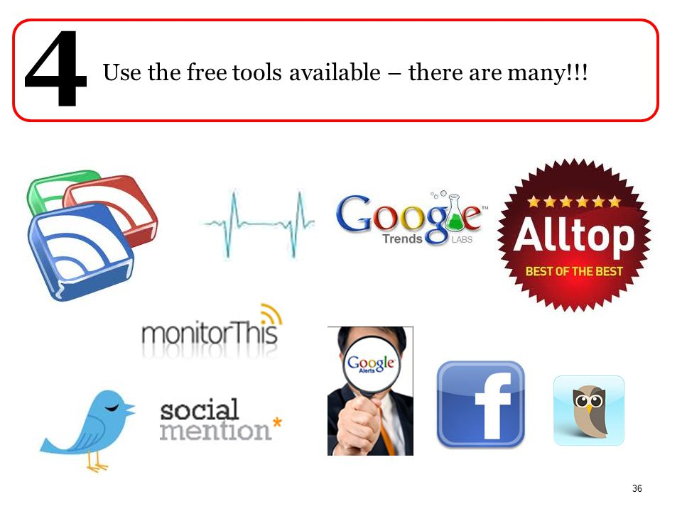 PwC Use the free tools available – there are many!!! 4 36