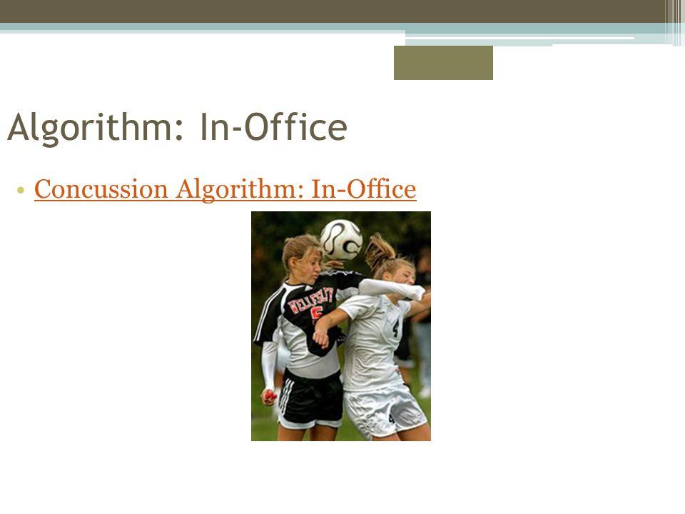 Algorithm: In-Office Concussion Algorithm: In-Office