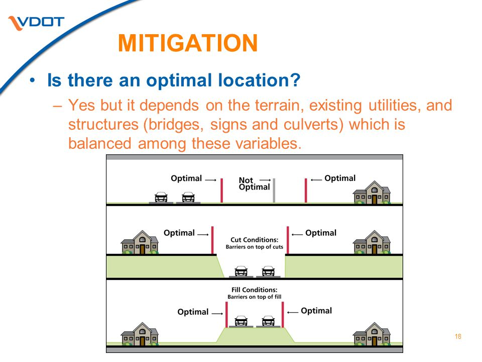 18 MITIGATION Is there an optimal location.