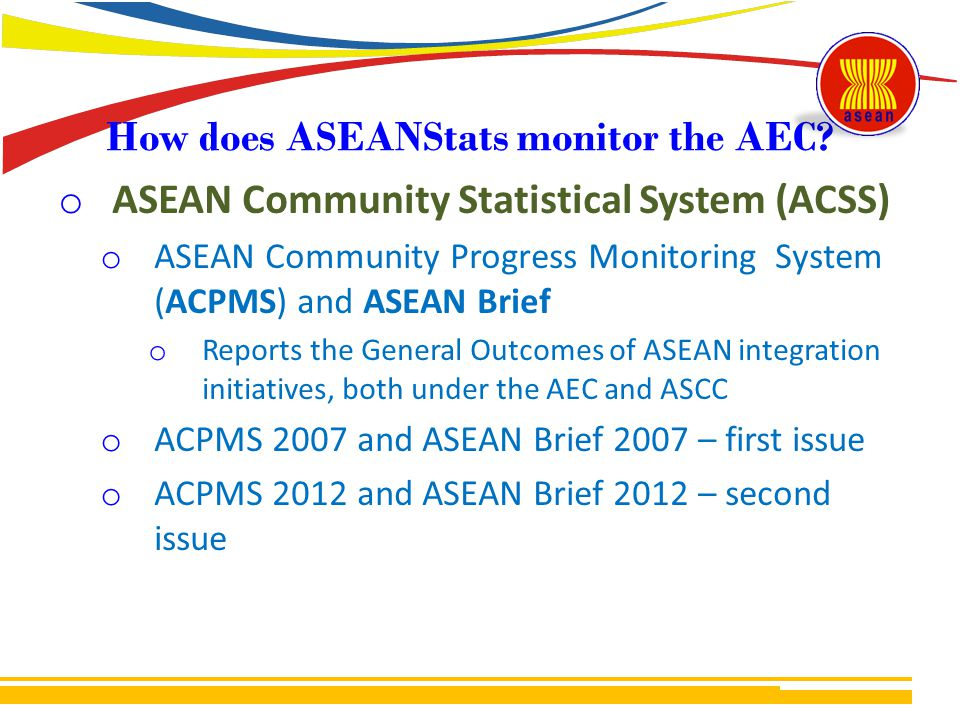 How does ASEANStats monitor the AEC.