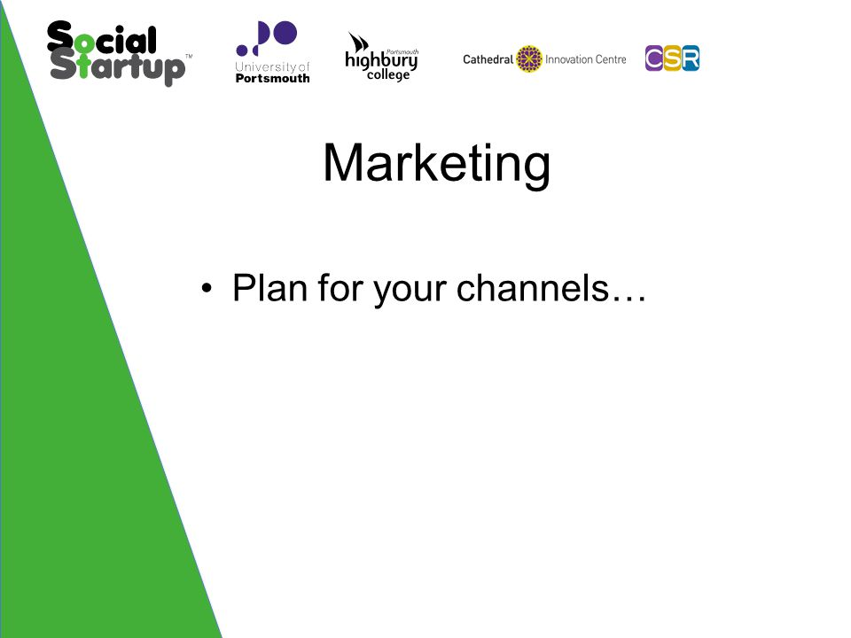 Marketing Plan for your channels…