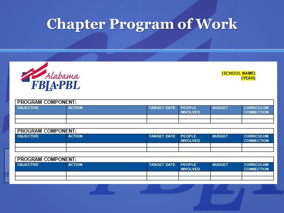 Chapter Program of Work