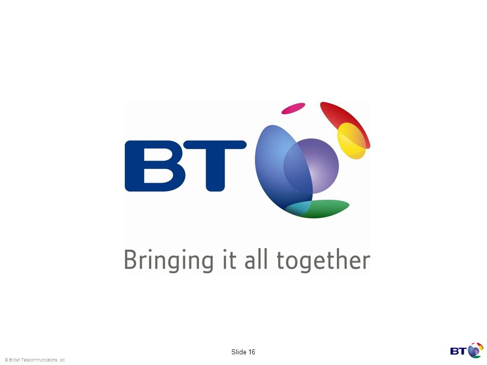 © British Telecommunications plc Slide 16