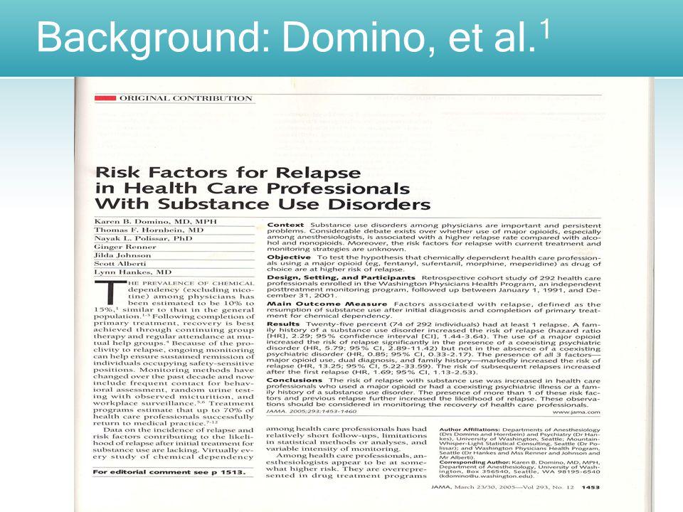 Background: Domino, et al. 1