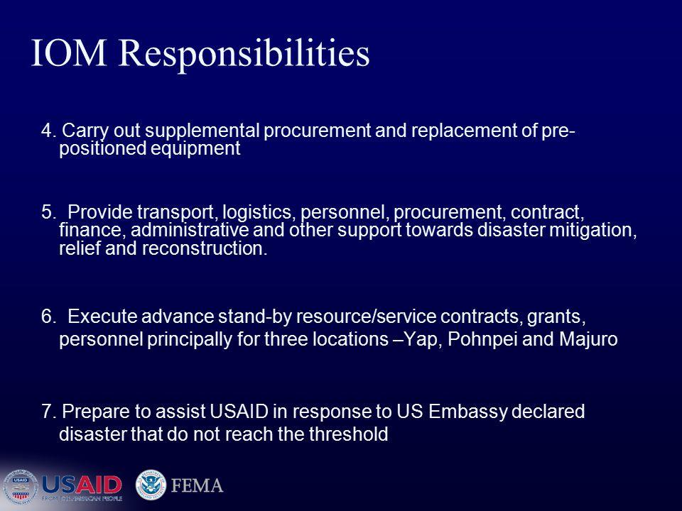 IOM Responsibilities 4.