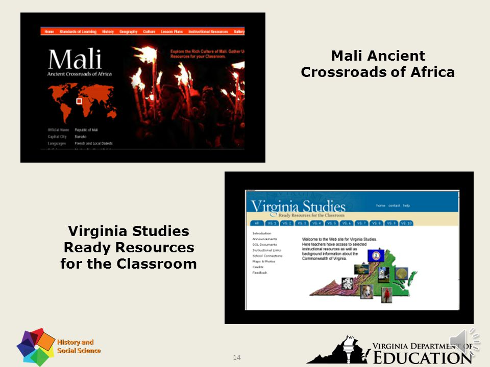 13 Teaching and Learning Virginia K–3 History and Social Science Standards of Learning Virginia's First People Past and Present