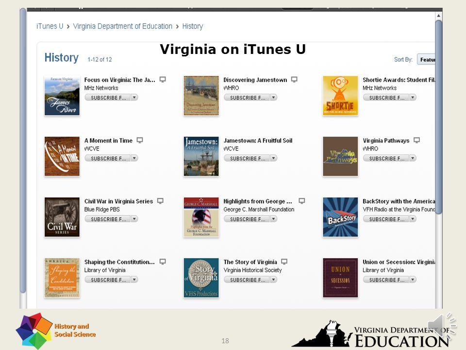 17 Virginia on iTunes U