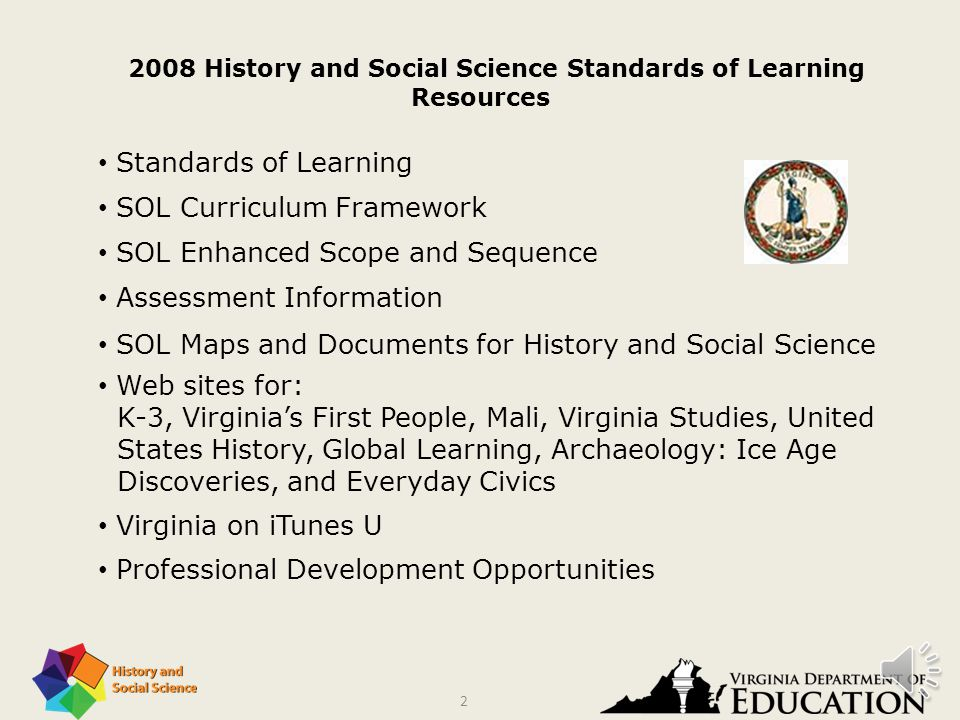 2008 History and Social Science Standards of Learning Resources and Teaching Strategies