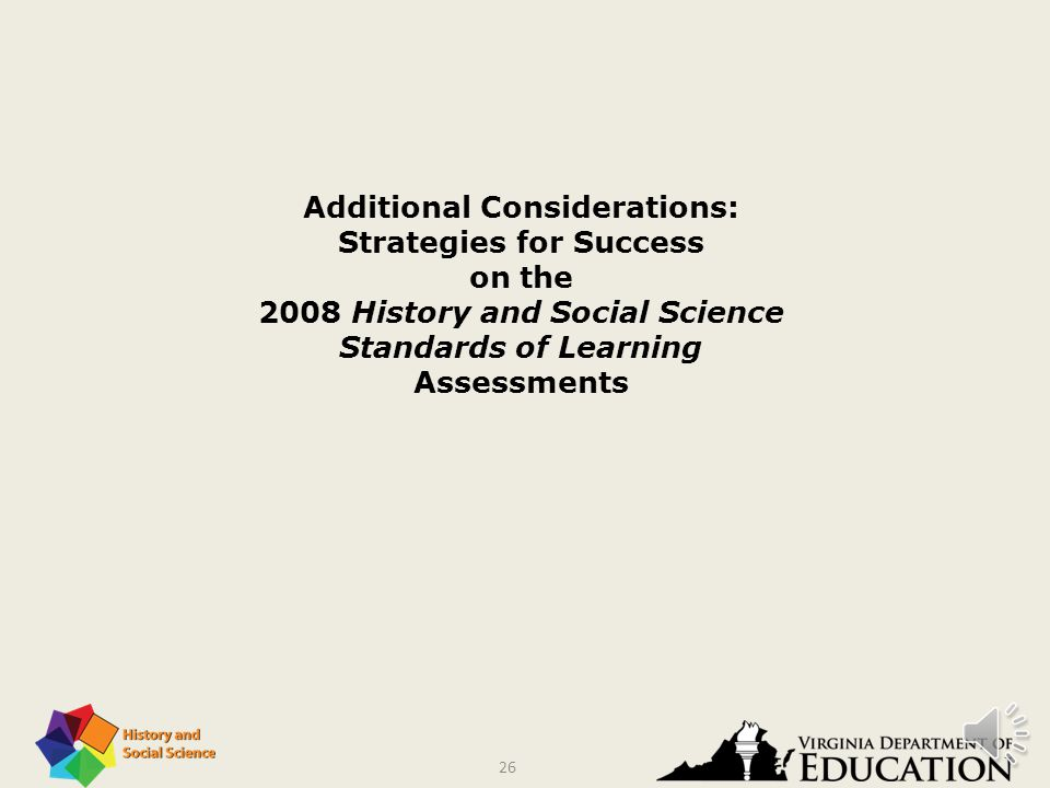 25 Instructional Foci Three topics received the most attention in the area of instructional changes. These included the increased use of hands-on mate