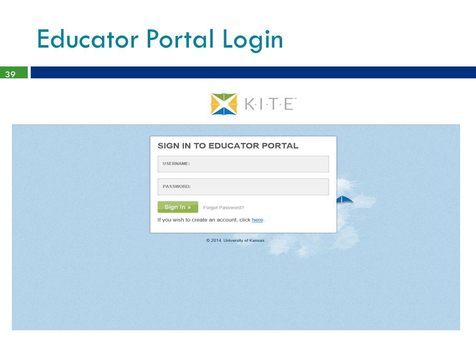 Educator Portal Login 39