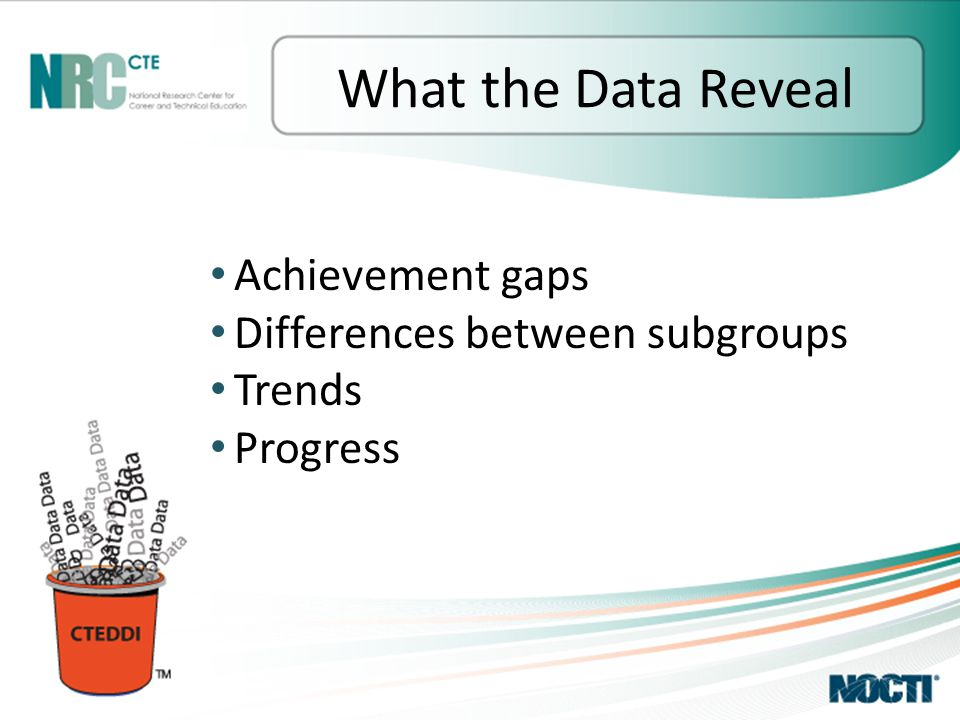 Achievement gaps Differences between subgroups Trends Progress What the Data Reveal