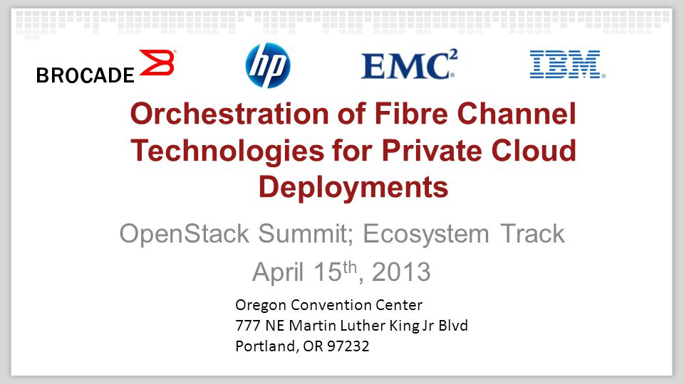 Agenda ► Why are we adding Fibre Channel support to OpenStack.