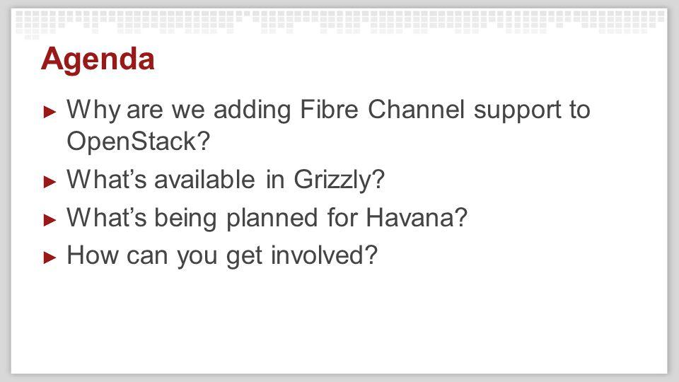Adding OpenStack Fibre Channel Support
