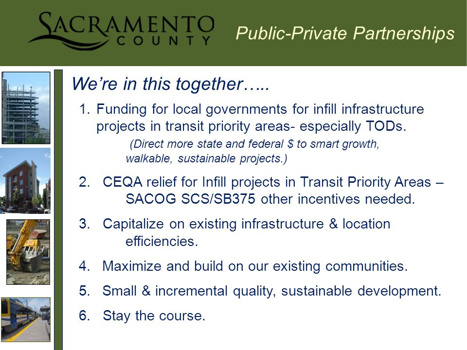 Public-Private Partnerships We're in this together…..