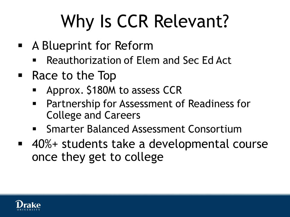 Why Is CCR Relevant.