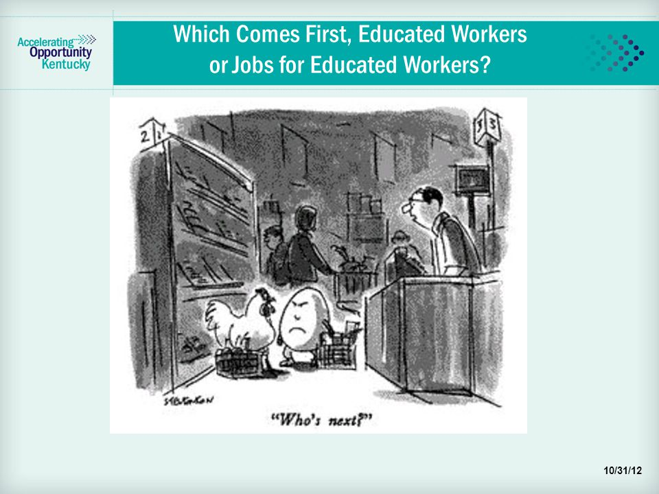 Which Comes First, Educated Workers or Jobs for Educated Workers 10/31/12
