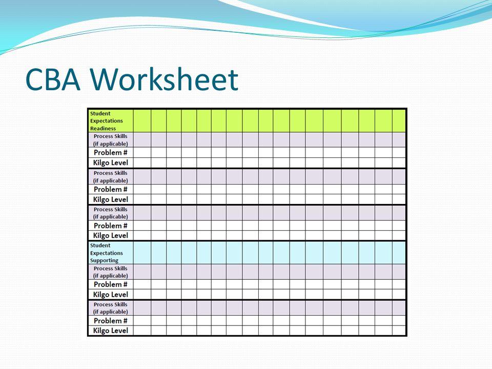 CBA Worksheet