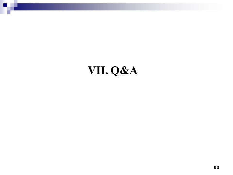 VII.Q&A 63
