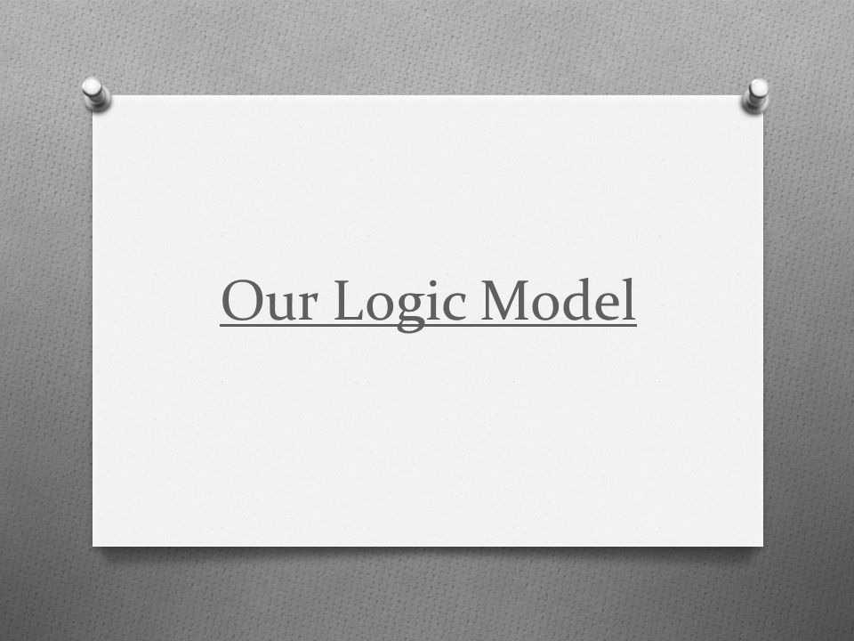 Our Logic Model