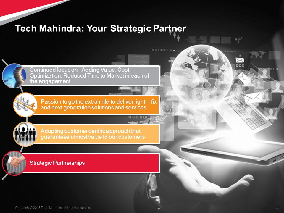 22 Copyright © 2013 Tech Mahindra.All rights reserved.
