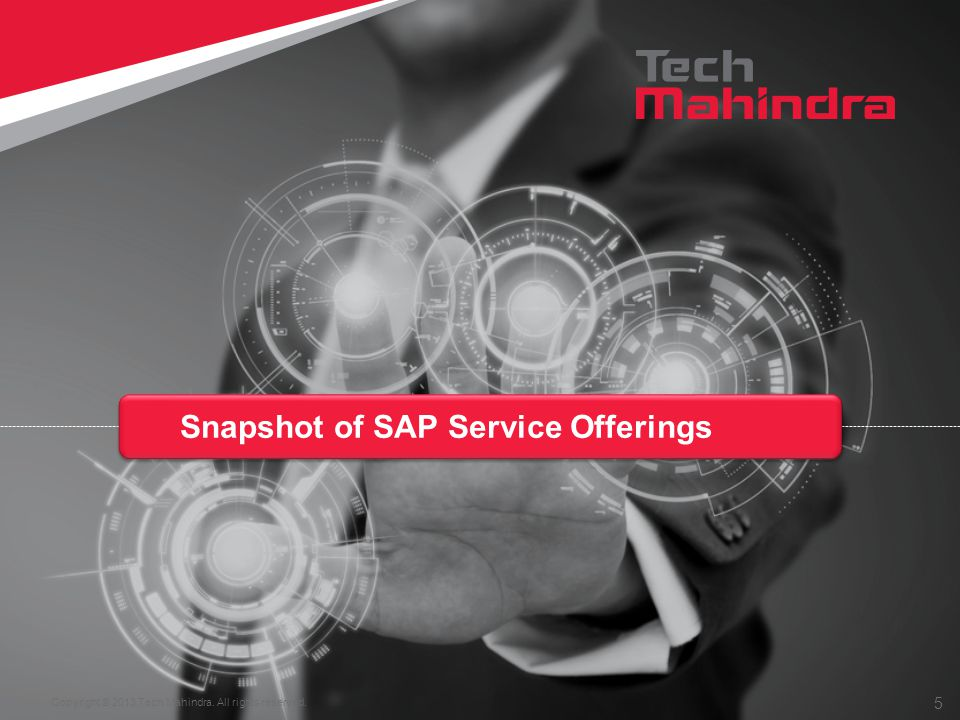 Copyright © 2013 Tech Mahindra. All rights reserved. 5 Snapshot of SAP Service Offerings