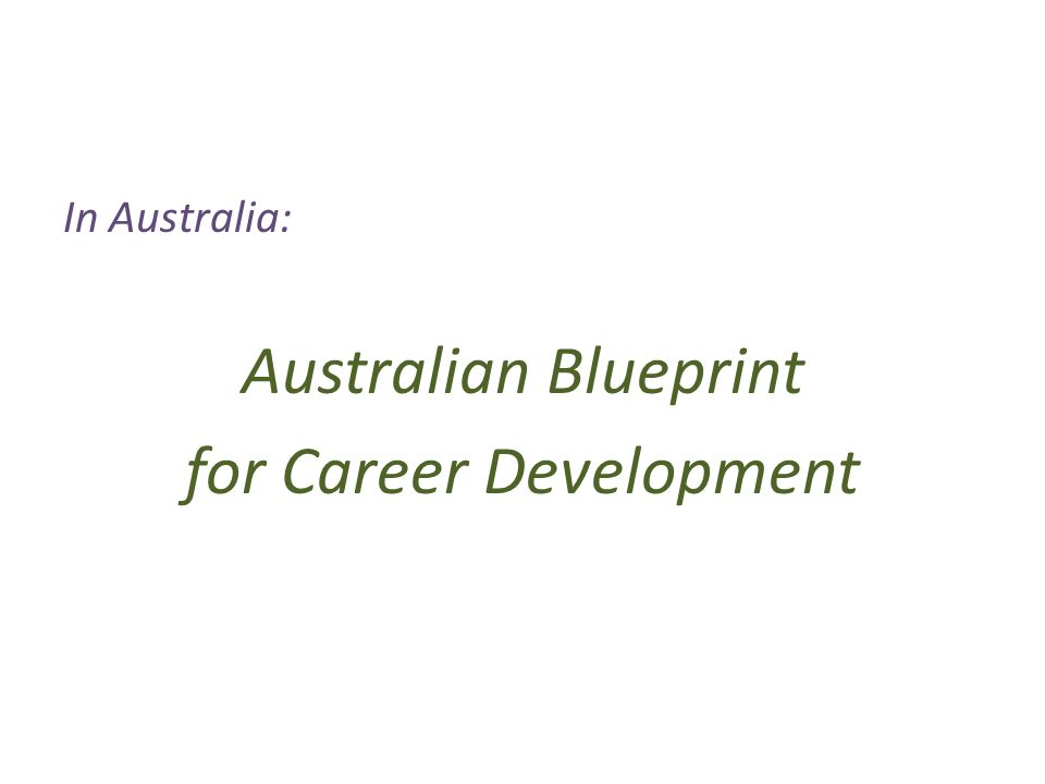 Constructing careers skills for career development in changing 11 in australia australian blueprint for career development malvernweather