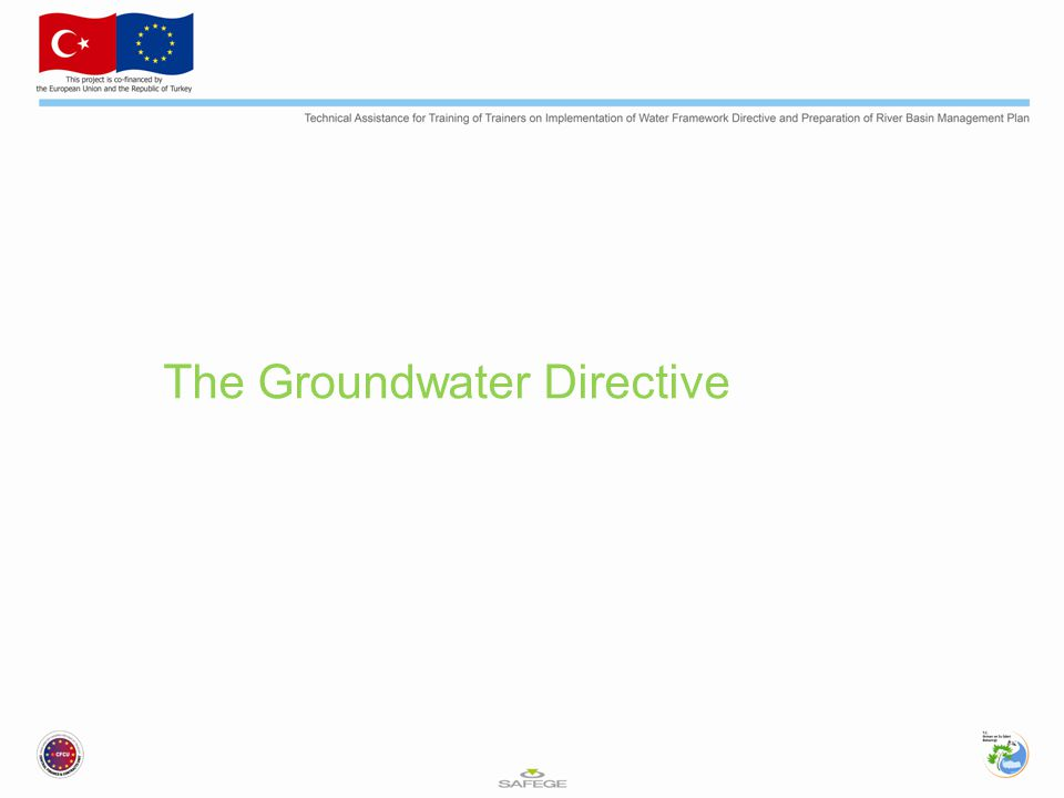 The Groundwater Directive