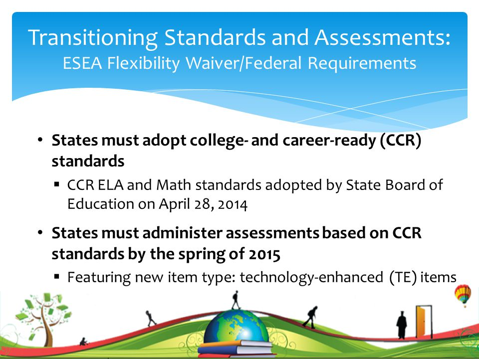 Support for Educators SupportGrades 3-8ECAs Test Blueprints Posted early July Posted late Fall Instructional and Assessment Guidance Posted late August Posted late Fall Acuity 3-8: Acuity Readiness Assessments Late September N/A Acuity ECAs: CCR-aligned items (GQE-Alg.