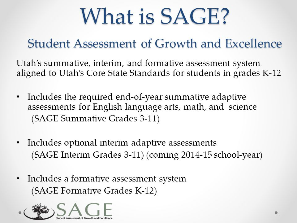 What is SAGE.