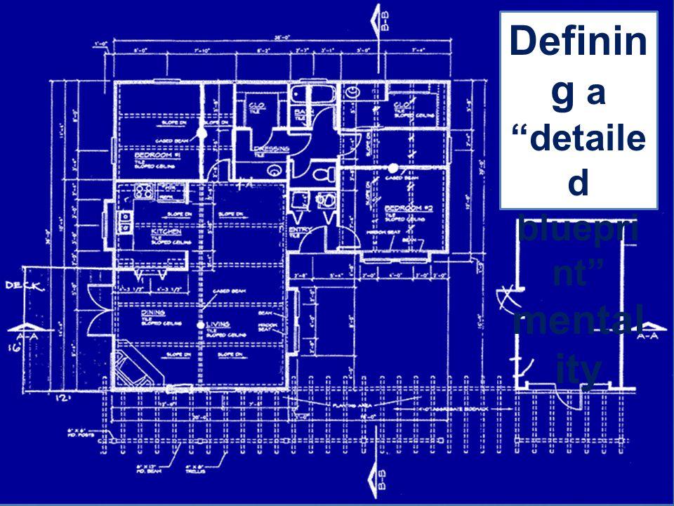 Definin g a detaile d bluepri nt mental ity