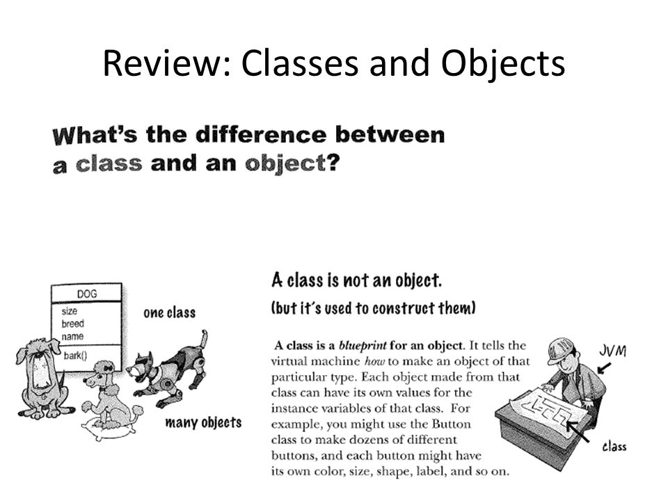 Review: Classes and Objects