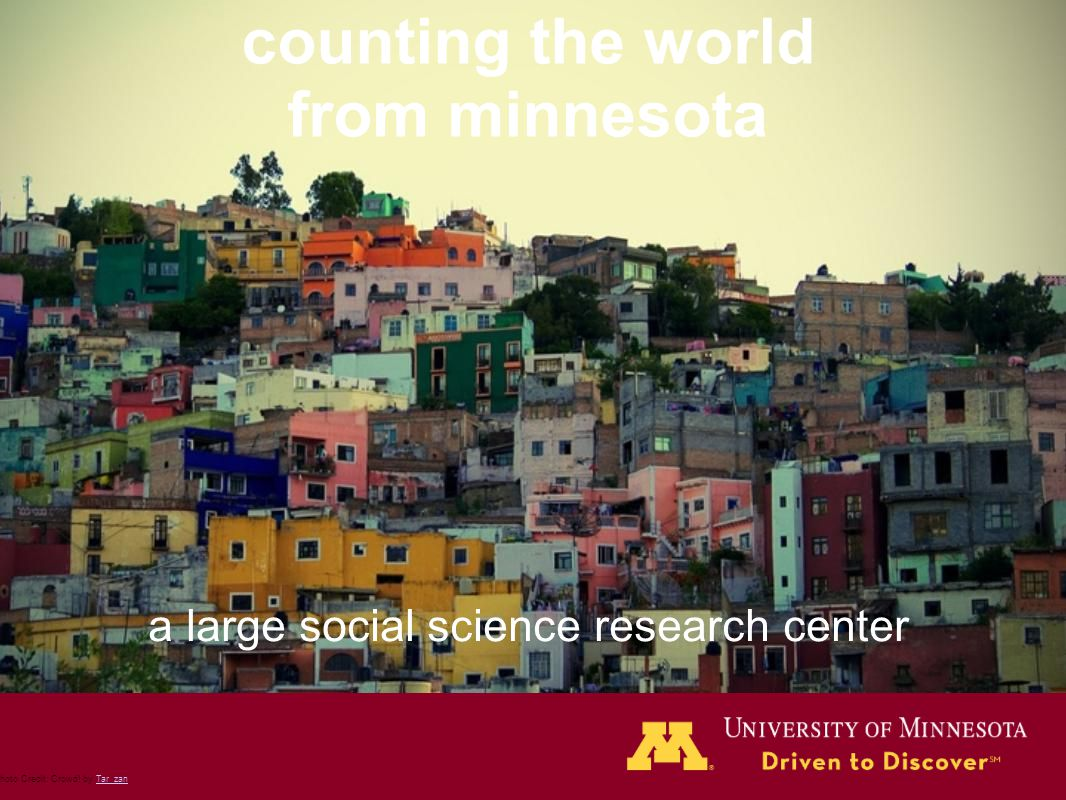 counting the world from minnesota a large social science research center Photo Credit: Crowd! by Tar_zanTar_zan