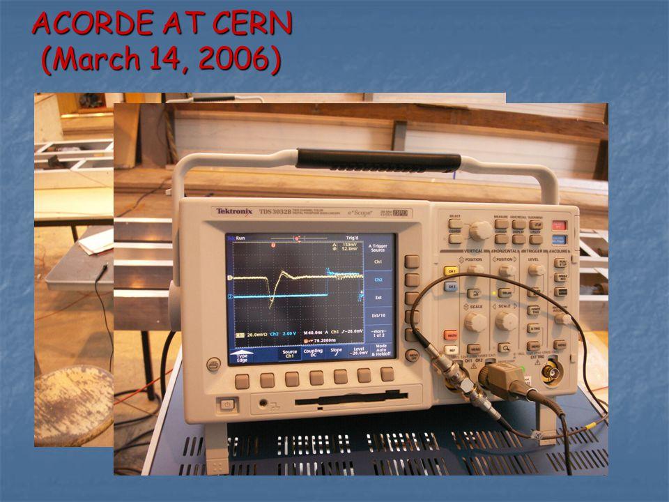 ACORDE AT CERN (March 14, 2006)