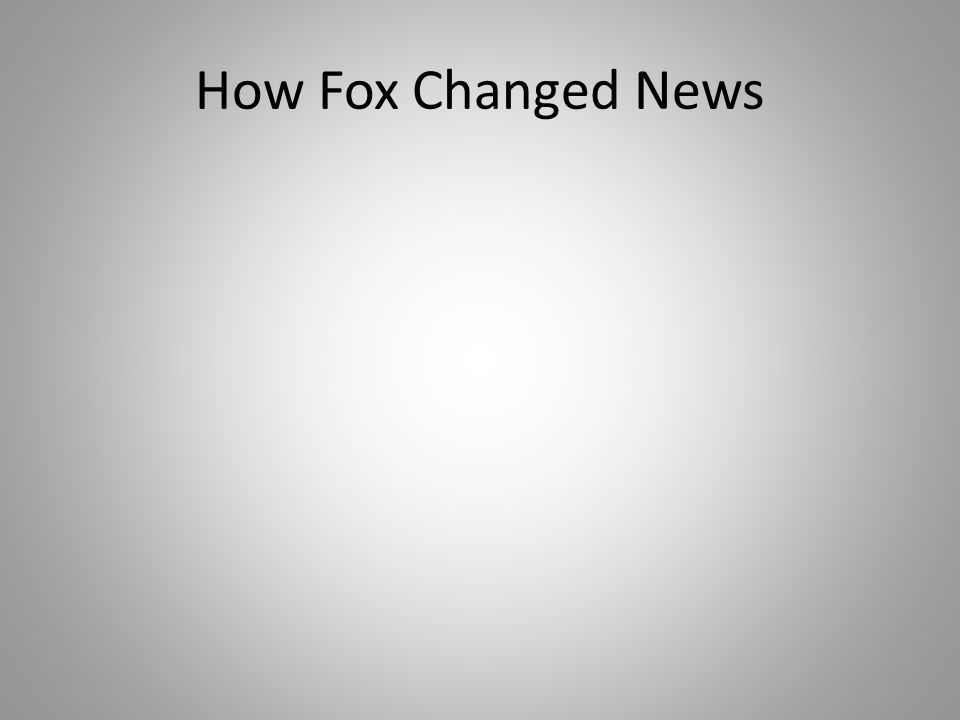 How Fox Changed News