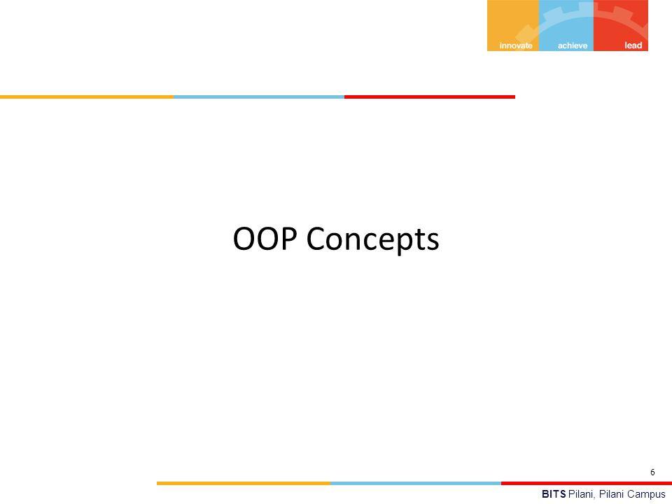BITS Pilani, Pilani Campus OOP Concepts 6