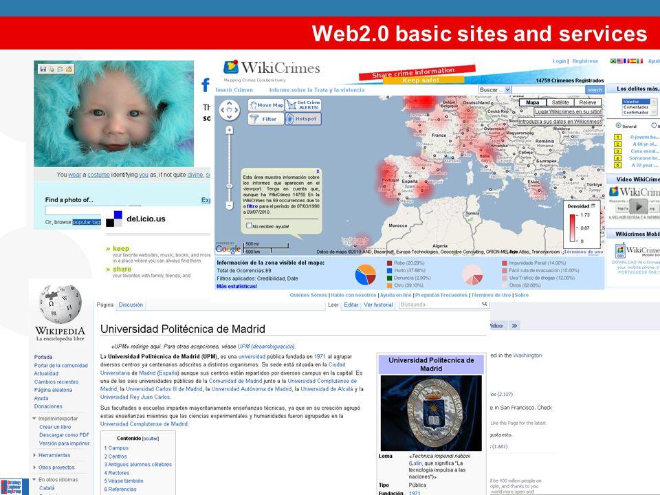 Web1.0 vs Web2.0 Cooperation Dynamicity Decentralised change Heterogeneity Multimedia content