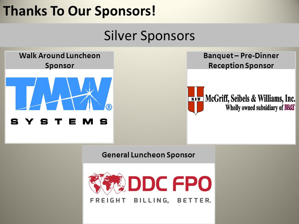 Thanks To Our Sponsors.