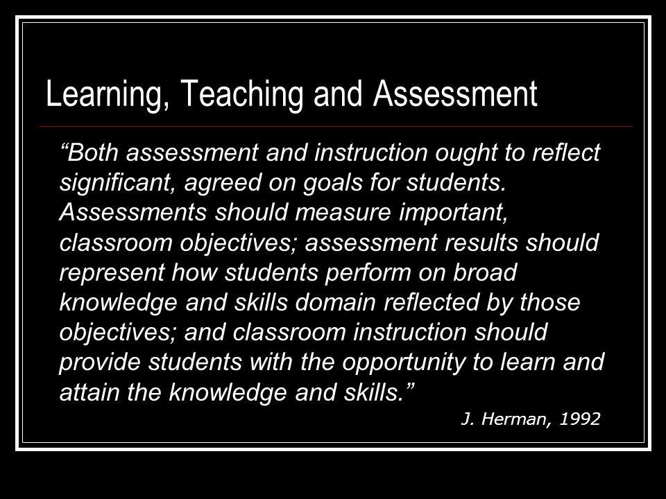 Instructional TriadLearning Teaching Assessment