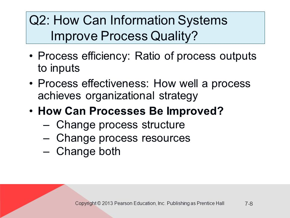 7-8 Q2: How Can Information Systems Improve Process Quality.