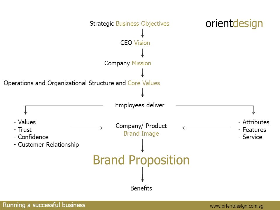 orientdesign www.orientdesign.com.sg Running a successful business Strategic Business Objectives CEO Vision Company Mission Operations and Organizatio