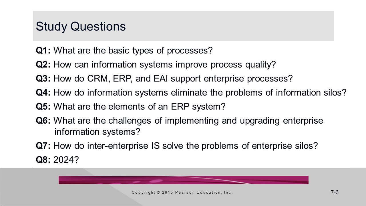 7-3 Study Questions Q1: What are the basic types of processes.
