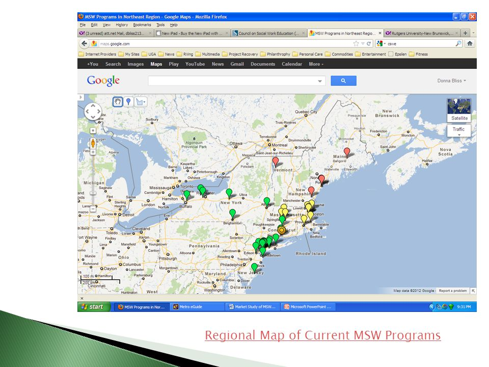 Regional Map of Current MSW Programs