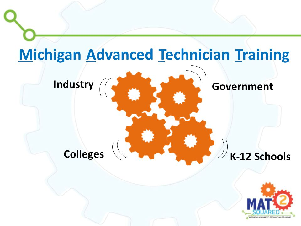 Industry Government Colleges K-12 Schools Michigan Advanced Technician Training