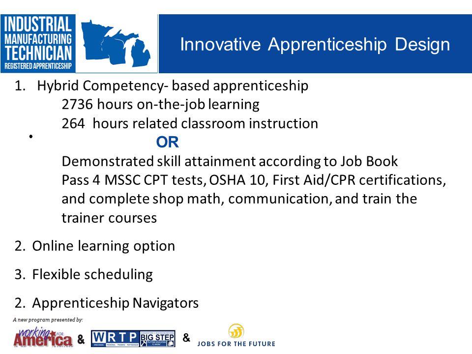 & Innovative Apprenticeship Design 1.