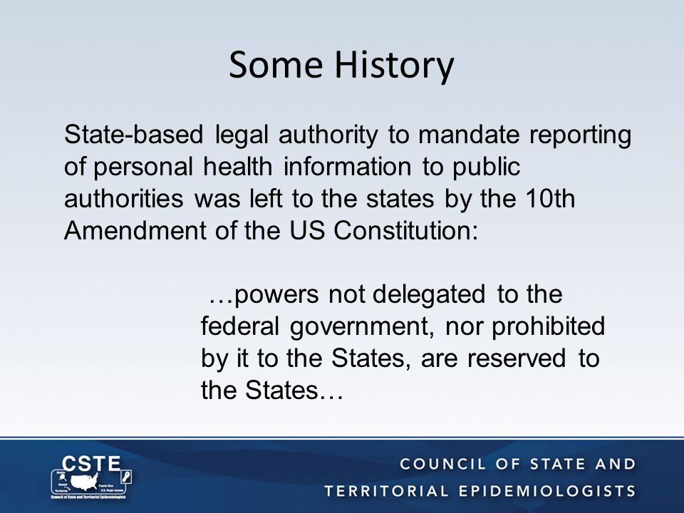 CSTE's Birth In 1951, CDC asked the Association of State and Territorial Health Officers to charge the state epidemiologists with deciding which diseases should be reported nationally.