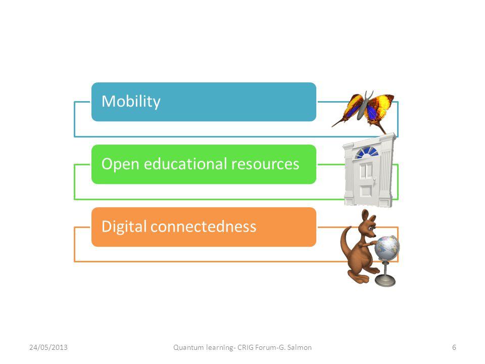 Framework for LATT strategy 24/05/2013Quantum learning- CRIG Forum-G. Salmon6
