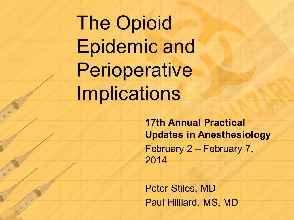 Morning of Surgery Set Expectations Regional or Epidural if possible Consider available adjunct medications Continue long acting opioids Calculate the baseline need and ensure that is met and, within safe reason, exceeded Arrange for appropriate post-op destination