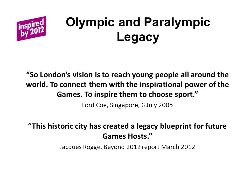 So London's vision is to reach young people all around the world.