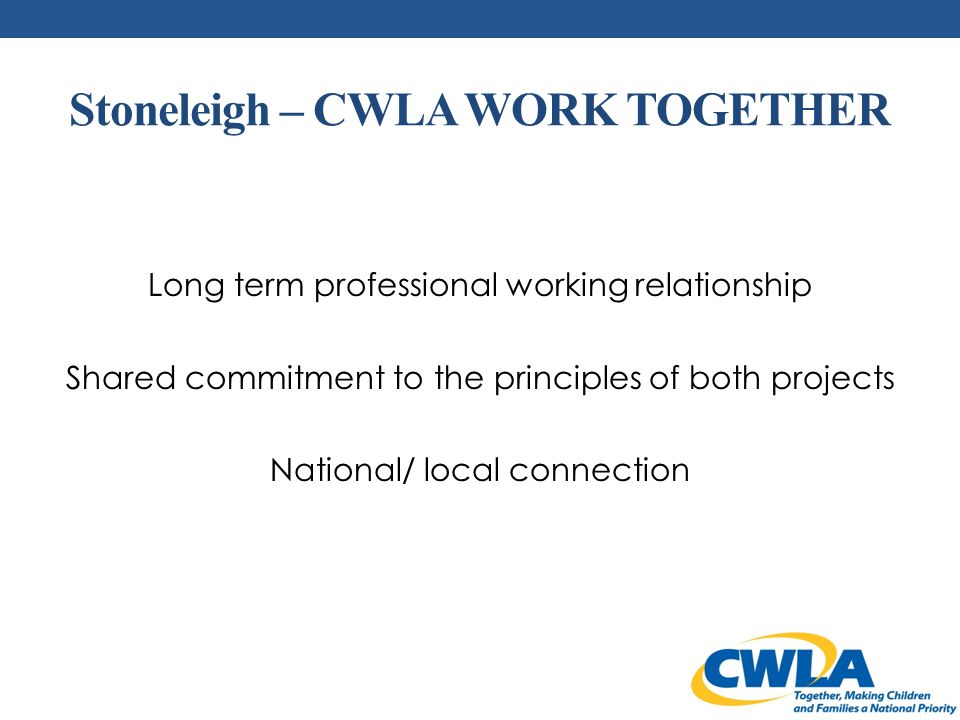 National Blueprint For Excellence In Child Welfare The CWLA National Blueprint serves as the foundation for our Standards of Excellence and a framework for all children, youth, and families to flourish.